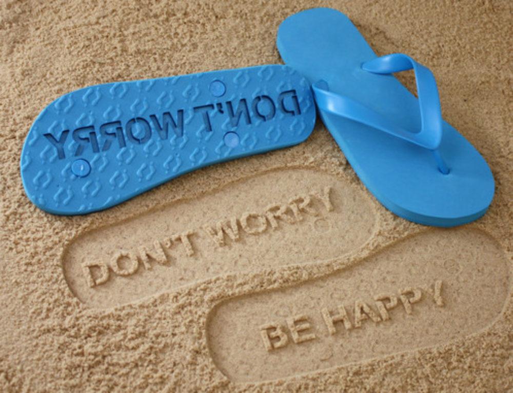 Sombrillas y chanclas de playa con diseño propio