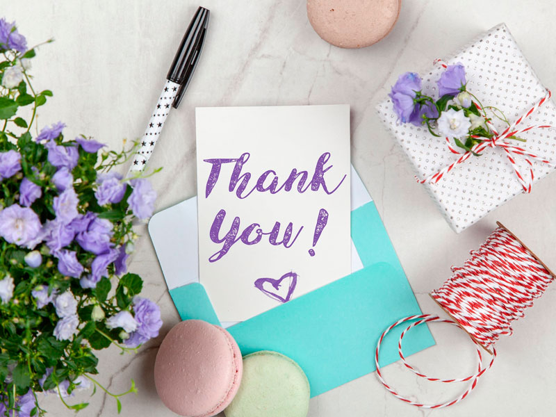 Regalos personalizados de agradecimiento